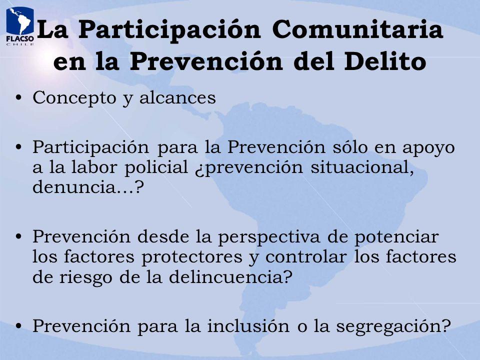 La Participación Comunitaria en la Prevención del Delito