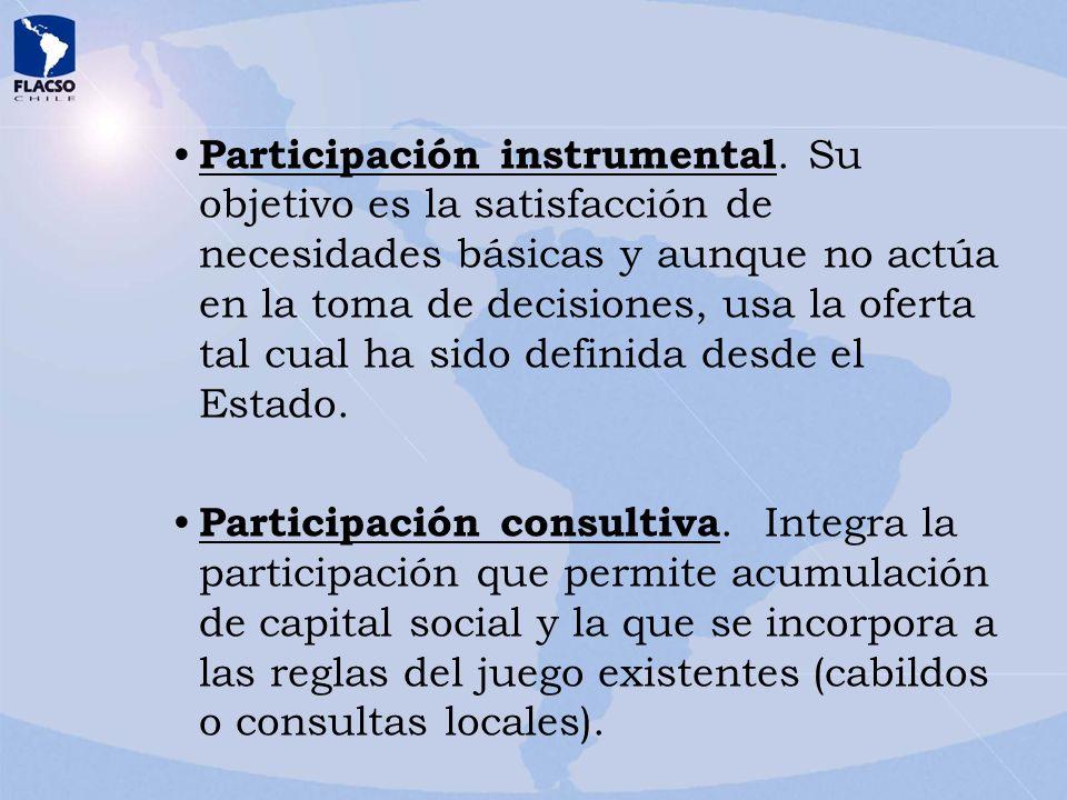 Participación instrumental