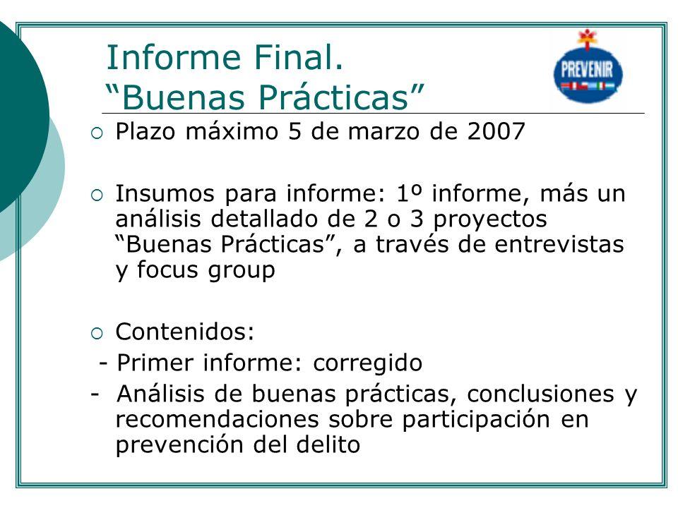 Informe Final. Buenas Prácticas