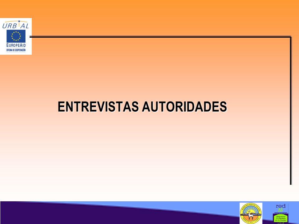 ENTREVISTAS AUTORIDADES