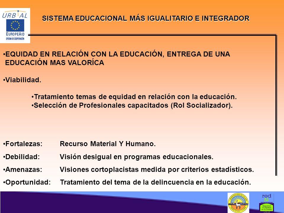 SISTEMA EDUCACIONAL MÁS IGUALITARIO E INTEGRADOR