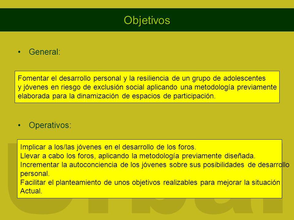 Objetivos General: Operativos:
