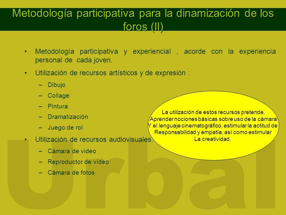 Metodología participativa para la dinamización de los foros (II)
