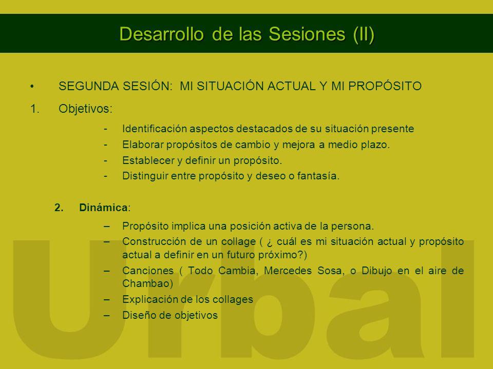 Desarrollo de las Sesiones (II)