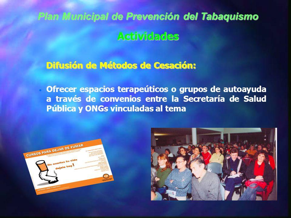 Plan Municipal de Prevención del Tabaquismo