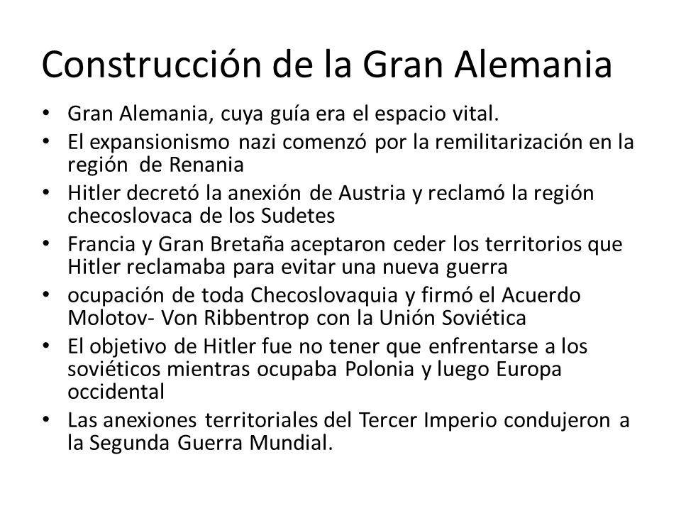 Construcción de la Gran Alemania