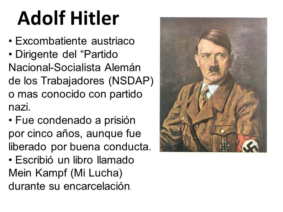 Adolf Hitler Excombatiente austriaco