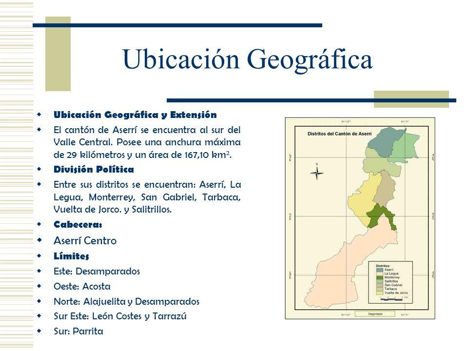 Ubicación Geográfica Aserrí Centro Ubicación Geográfica y Extensión