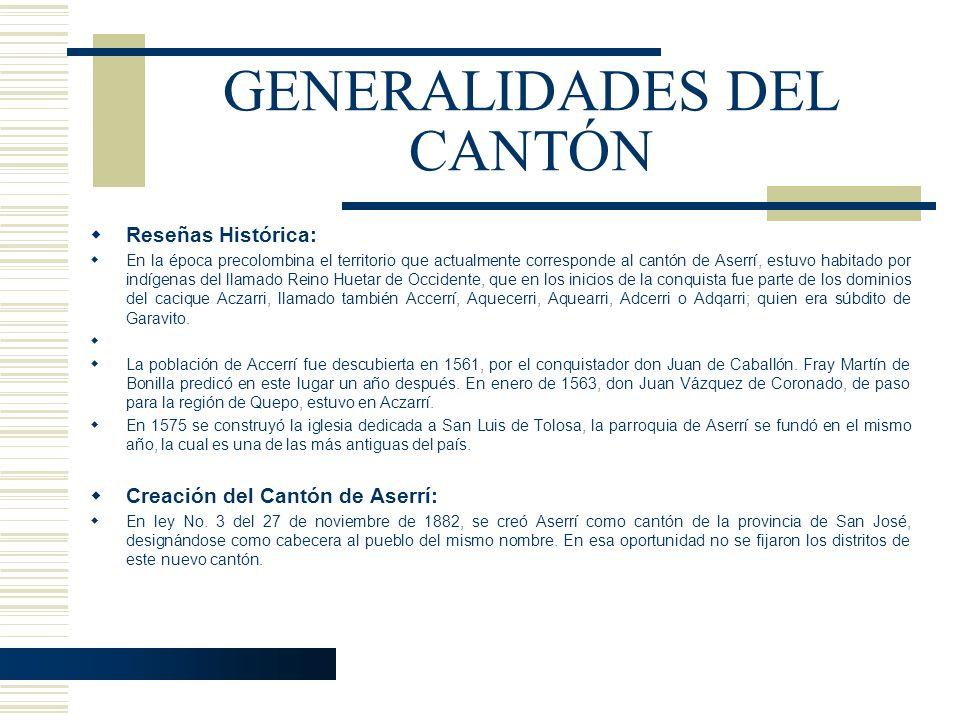 GENERALIDADES DEL CANTÓN