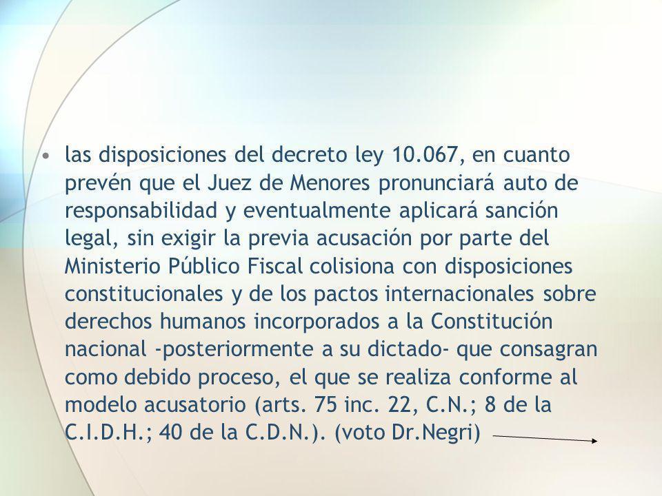las disposiciones del decreto ley 10