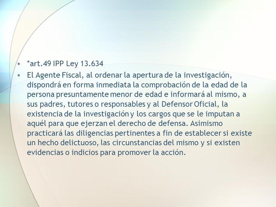 *art.49 IPP Ley 13.634