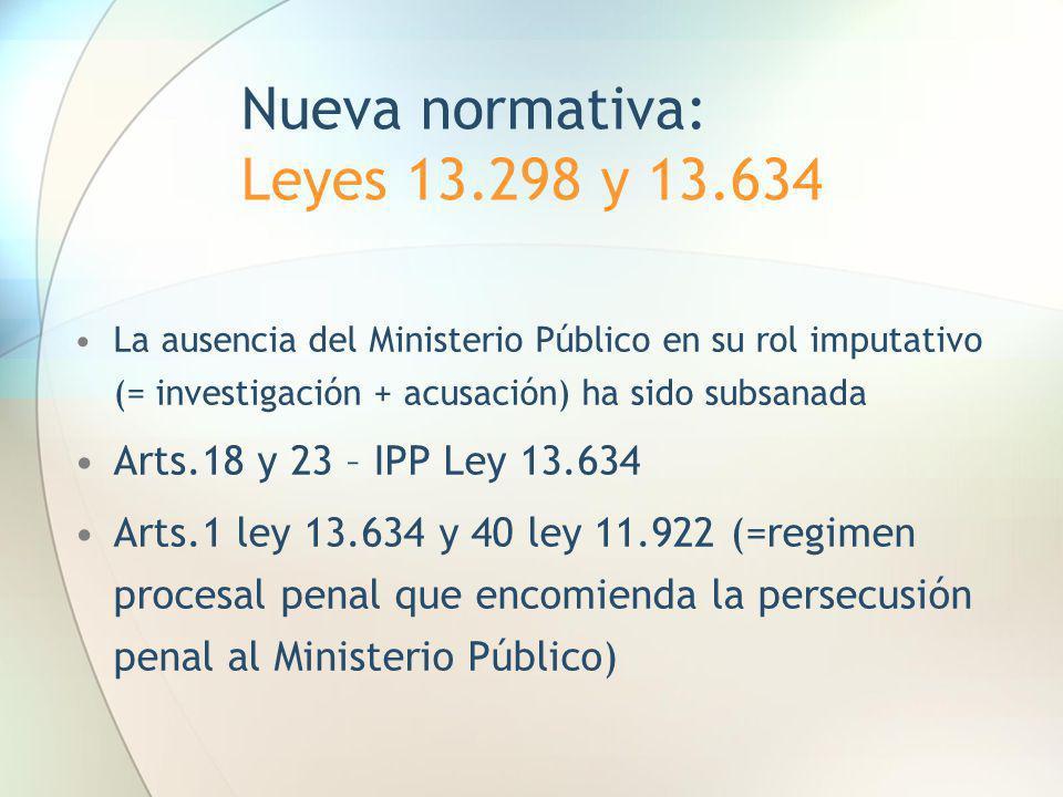 Nueva normativa: Leyes 13.298 y 13.634