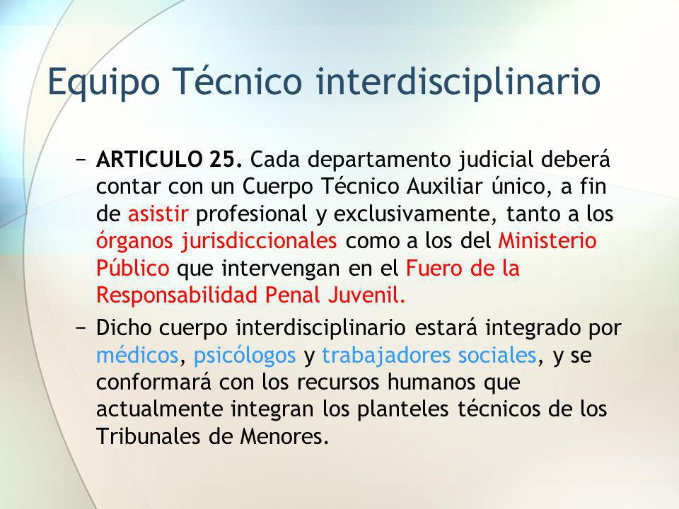 Equipo Técnico interdisciplinario