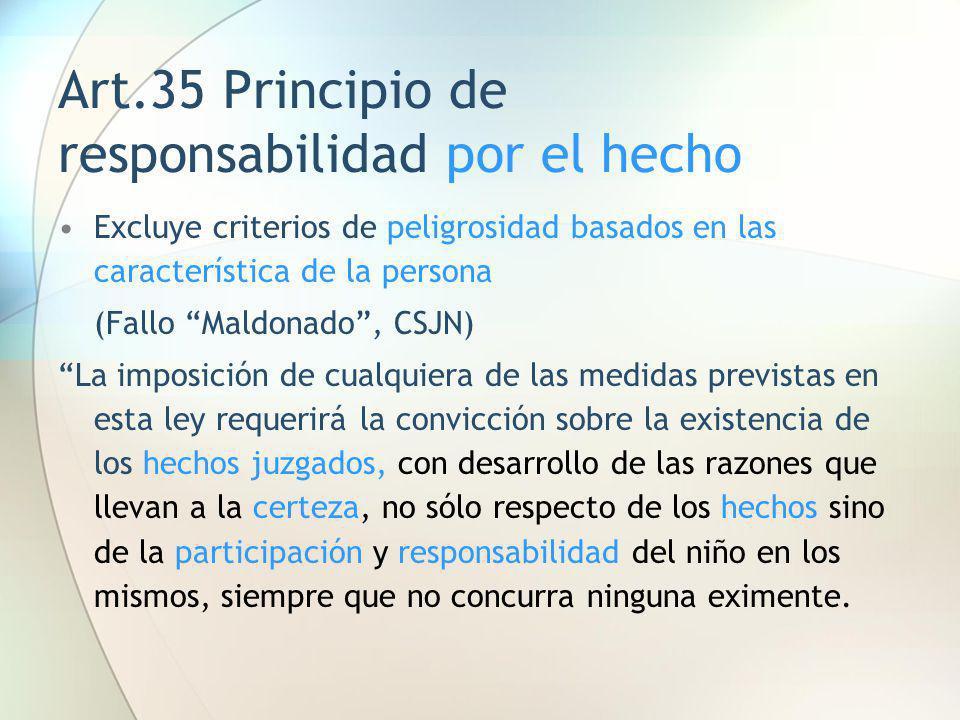 Art.35 Principio de responsabilidad por el hecho