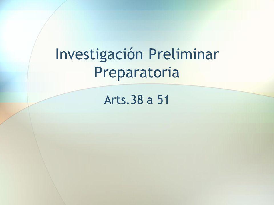 Investigación Preliminar Preparatoria