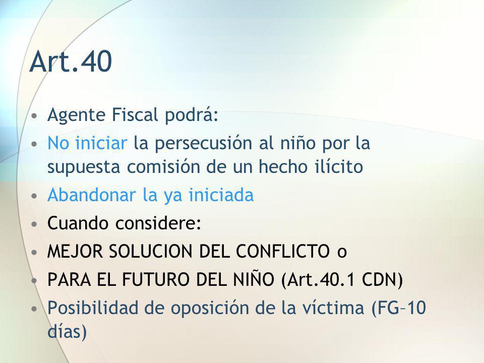 Art.40 Agente Fiscal podrá: