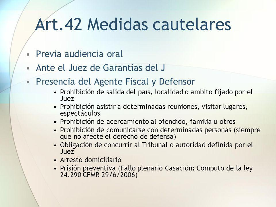 Art.42 Medidas cautelares