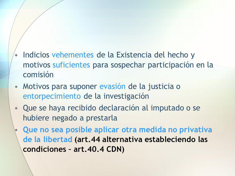 Indicios vehementes de la Existencia del hecho y motivos suficientes para sospechar participación en la comisión