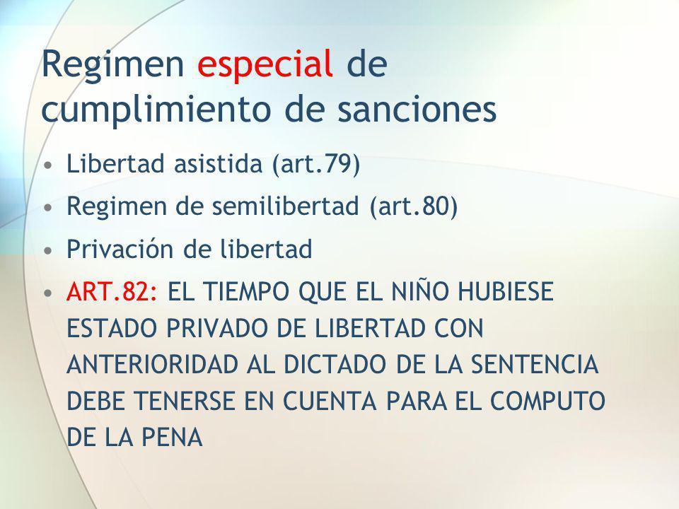 Regimen especial de cumplimiento de sanciones