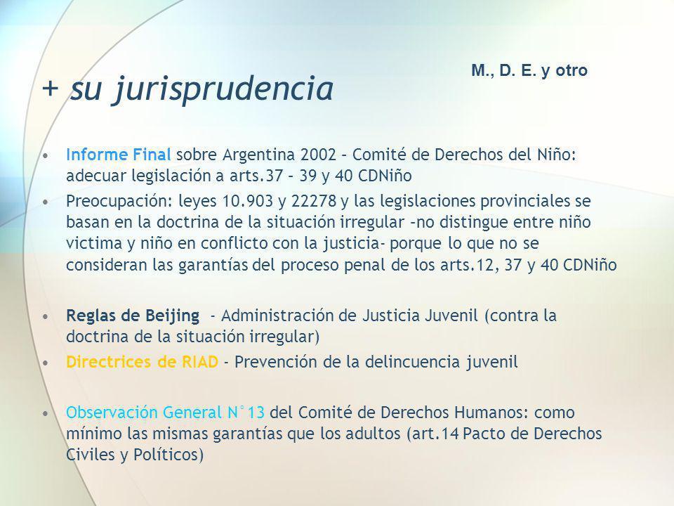 + su jurisprudencia M., D. E. y otro