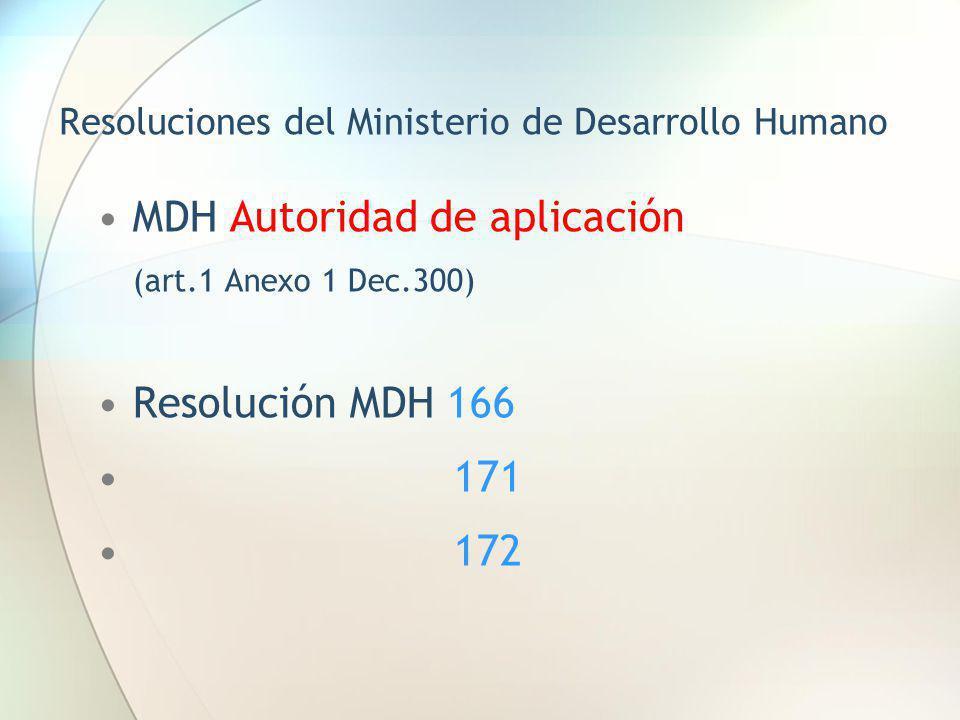 Resoluciones del Ministerio de Desarrollo Humano