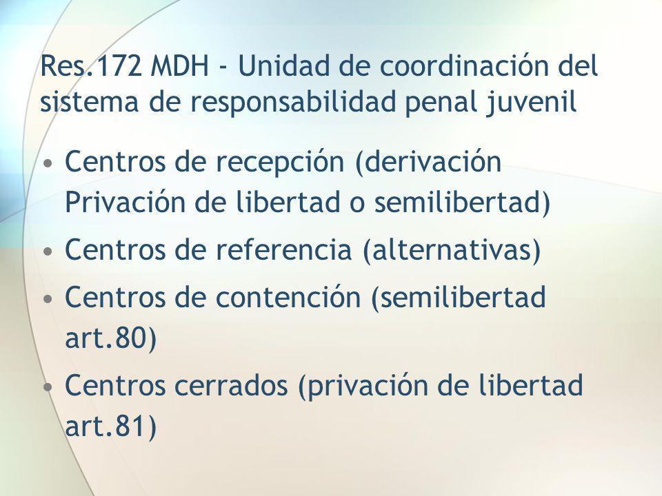 Res.172 MDH - Unidad de coordinación del sistema de responsabilidad penal juvenil