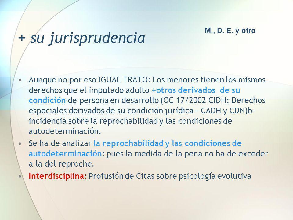 + su jurisprudencia M., D. E. y otro.
