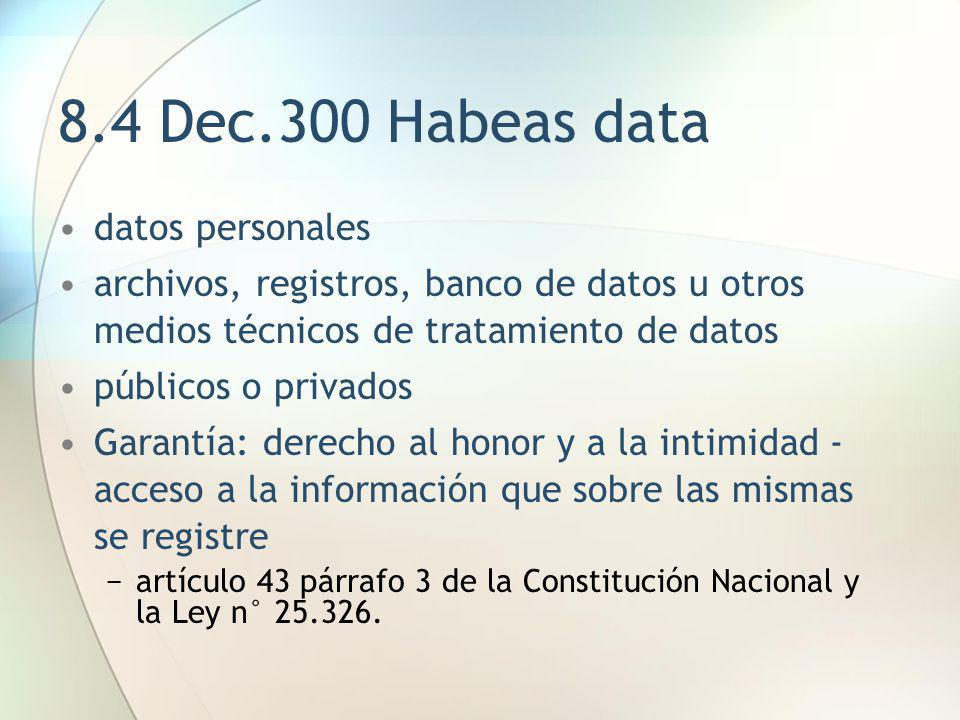 8.4 Dec.300 Habeas data datos personales