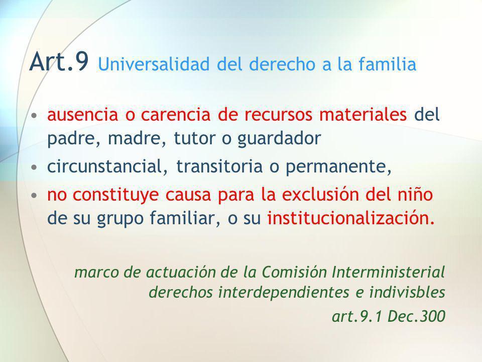 Art.9 Universalidad del derecho a la familia