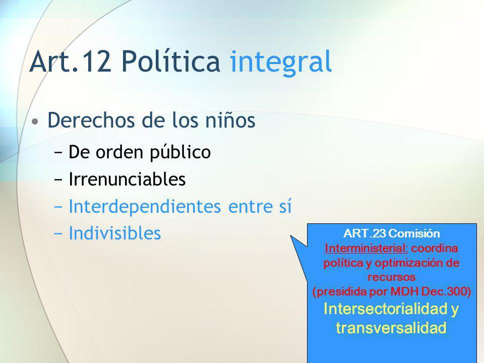(presidida por MDH Dec.300) Intersectorialidad y transversalidad