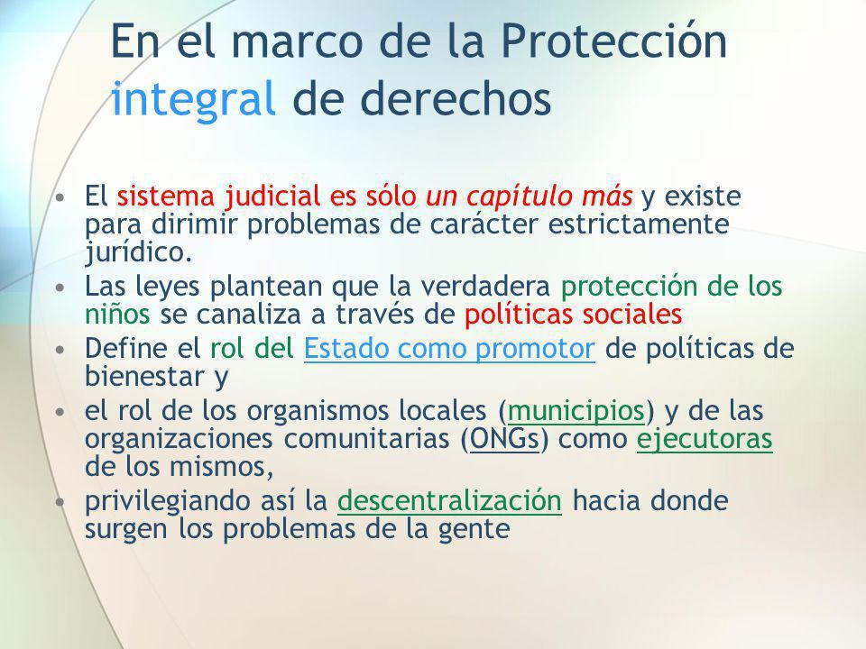 En el marco de la Protección integral de derechos