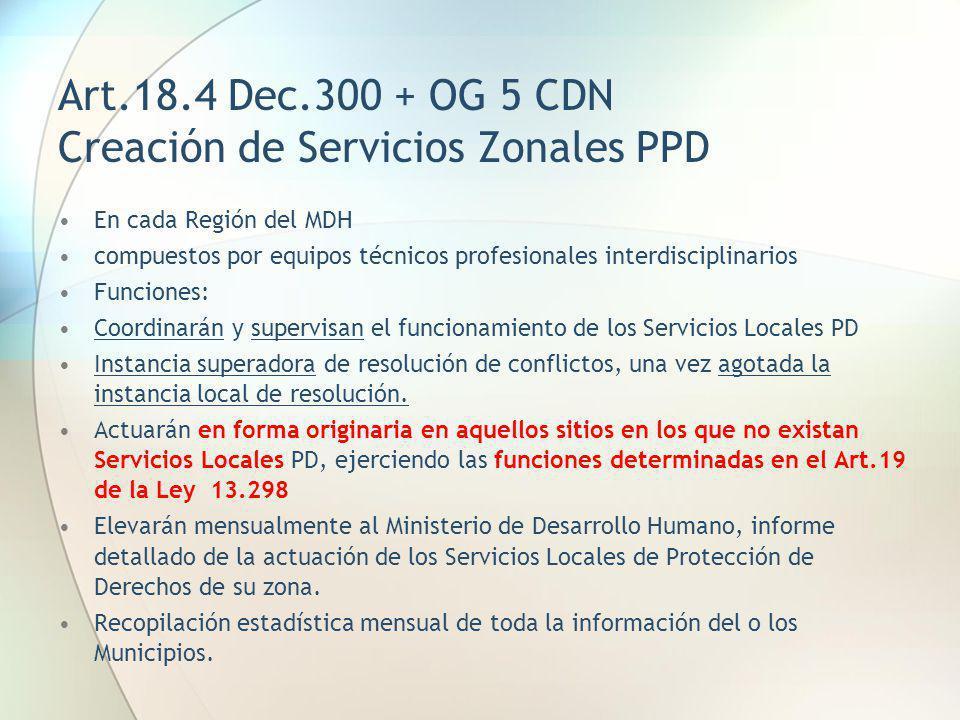 Art.18.4 Dec.300 + OG 5 CDN Creación de Servicios Zonales PPD