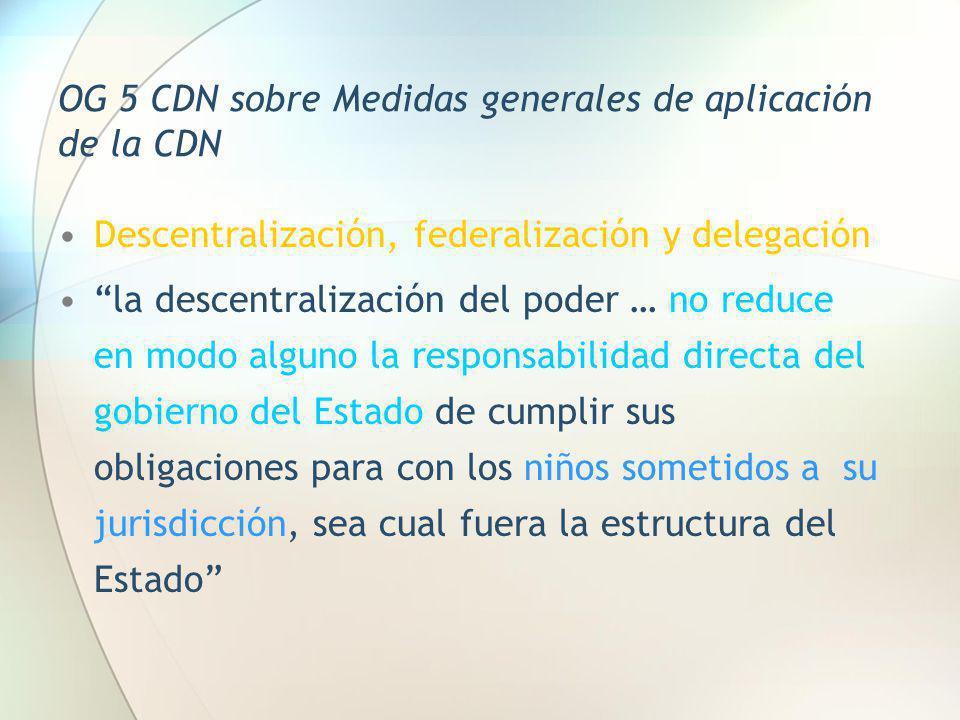 OG 5 CDN sobre Medidas generales de aplicación de la CDN