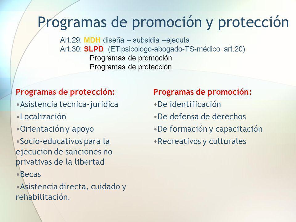 Programas de promoción y protección