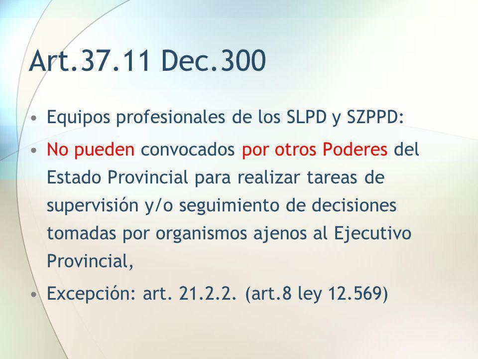 Art.37.11 Dec.300 Equipos profesionales de los SLPD y SZPPD: