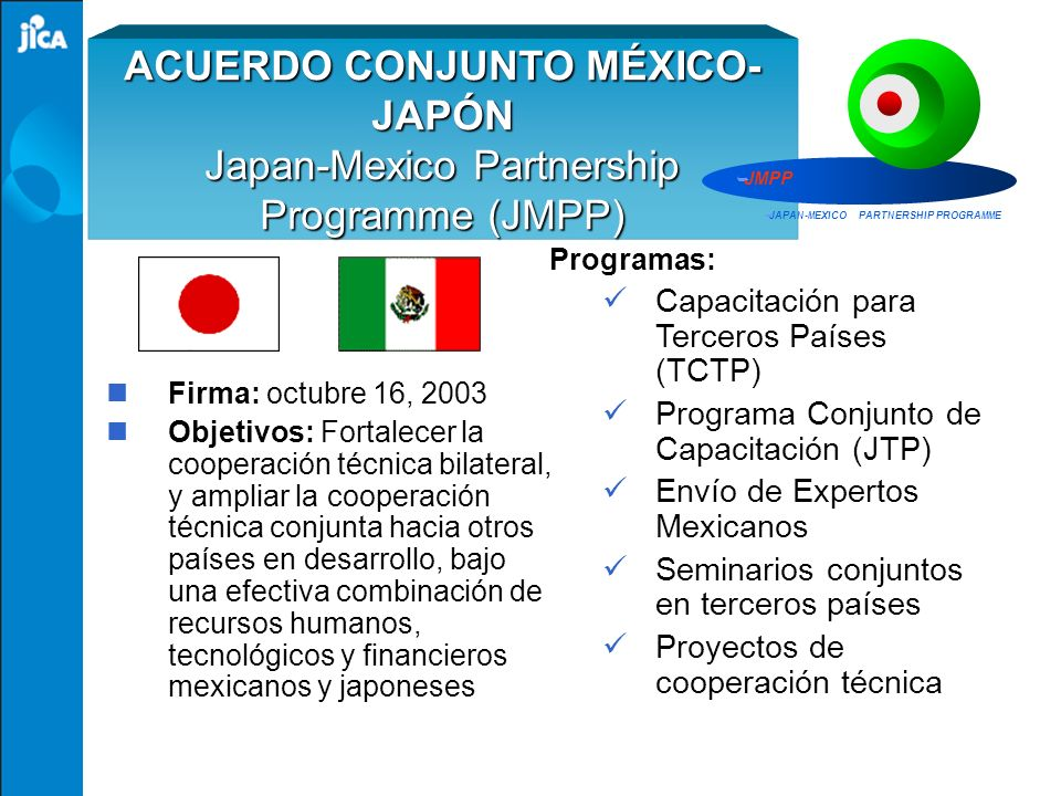 JAPAN-MEXICO PARTNERSHIP PROGRAMME