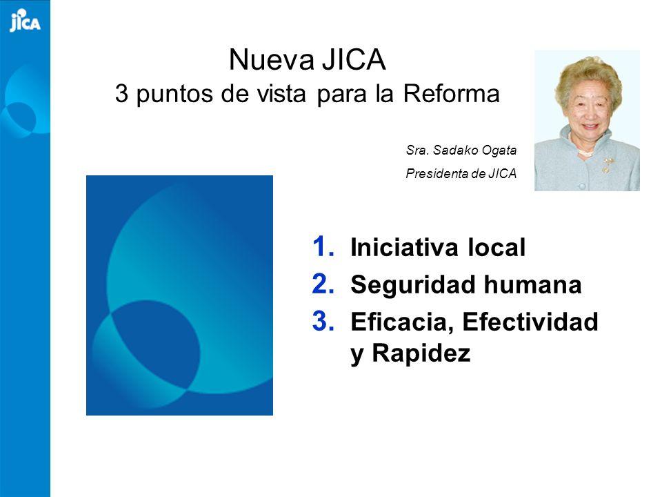 Nueva JICA 3 puntos de vista para la Reforma