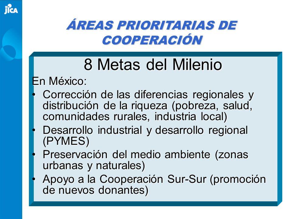 ÁREAS PRIORITARIAS DE COOPERACIÓN