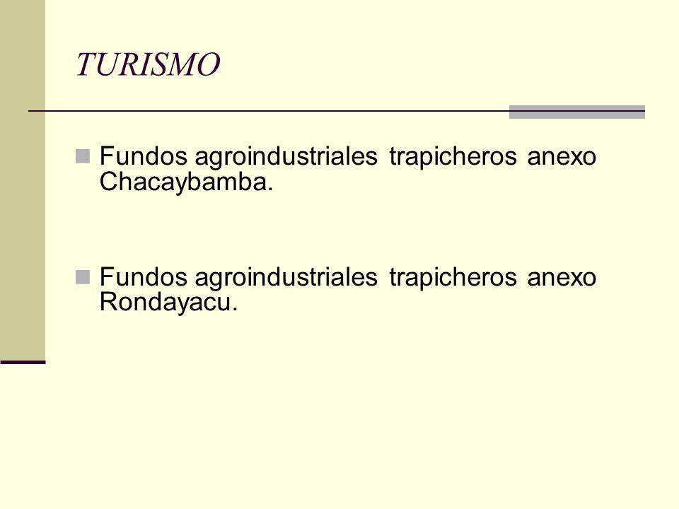 TURISMO Fundos agroindustriales trapicheros anexo Chacaybamba.