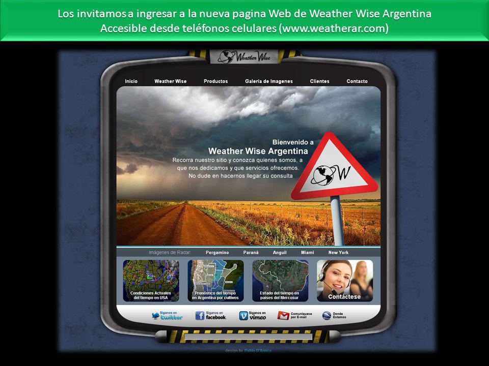 Accesible desde teléfonos celulares (www.weatherar.com)