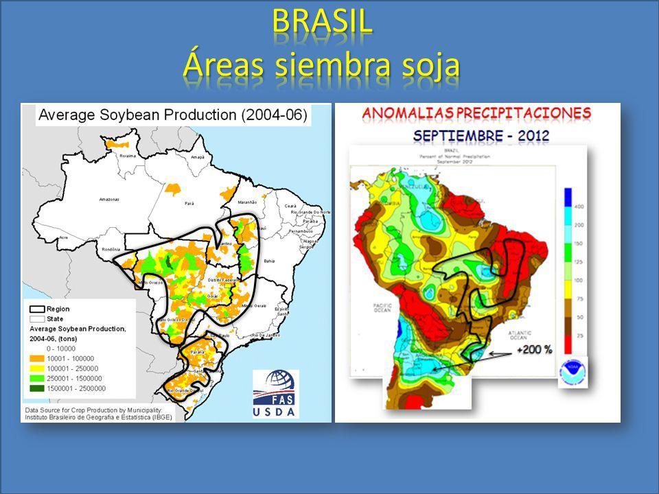 BRASIL Áreas siembra soja
