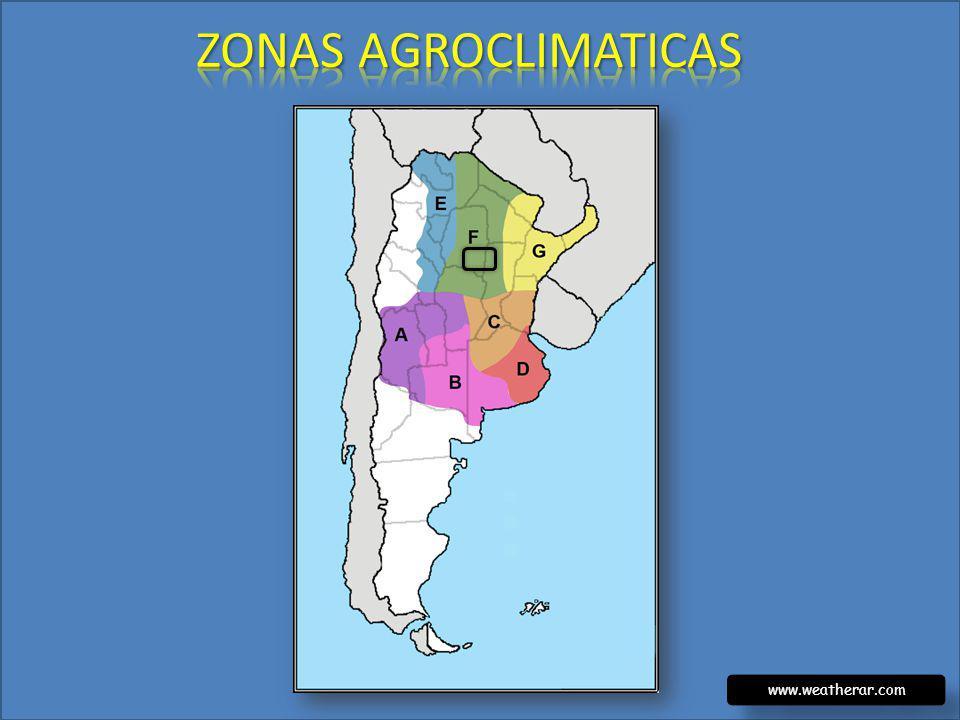 ZONAS AGROCLIMATICAS www.weatherar.com