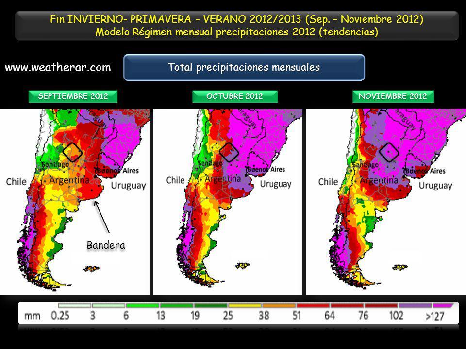 Fin INVIERNO- PRIMAVERA - VERANO 2012/2013 (Sep. – Noviembre 2012)