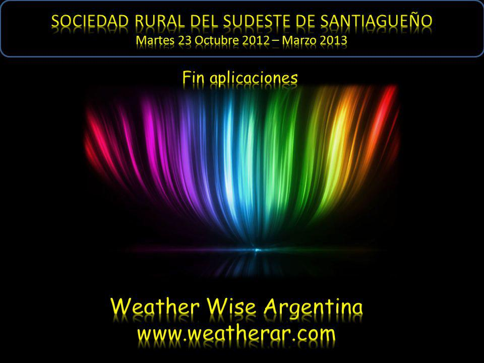 Weather Wise Argentina www.weatherar.com