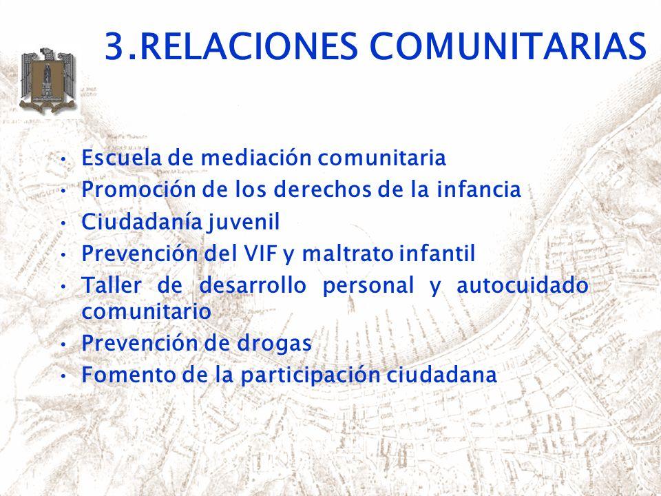 3.RELACIONES COMUNITARIAS