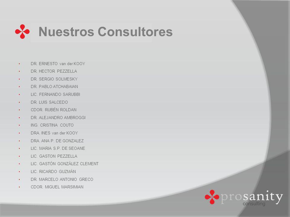 Nuestros Consultores DR. ERNESTO van der KOOY DR. HECTOR PEZZELLA