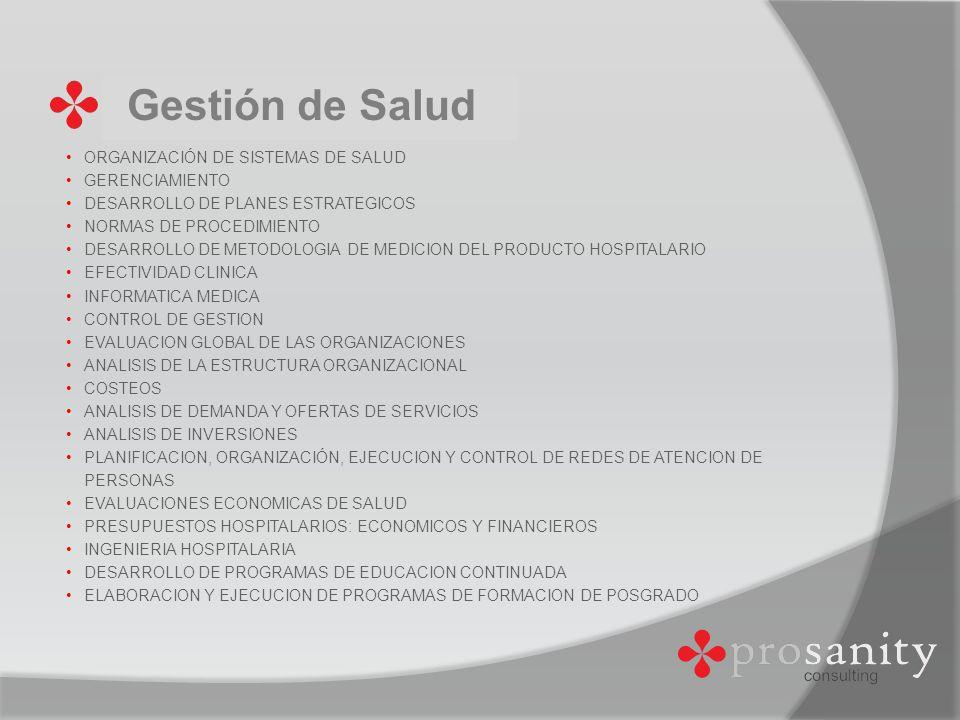 Gestión de Salud ORGANIZACIÓN DE SISTEMAS DE SALUD GERENCIAMIENTO