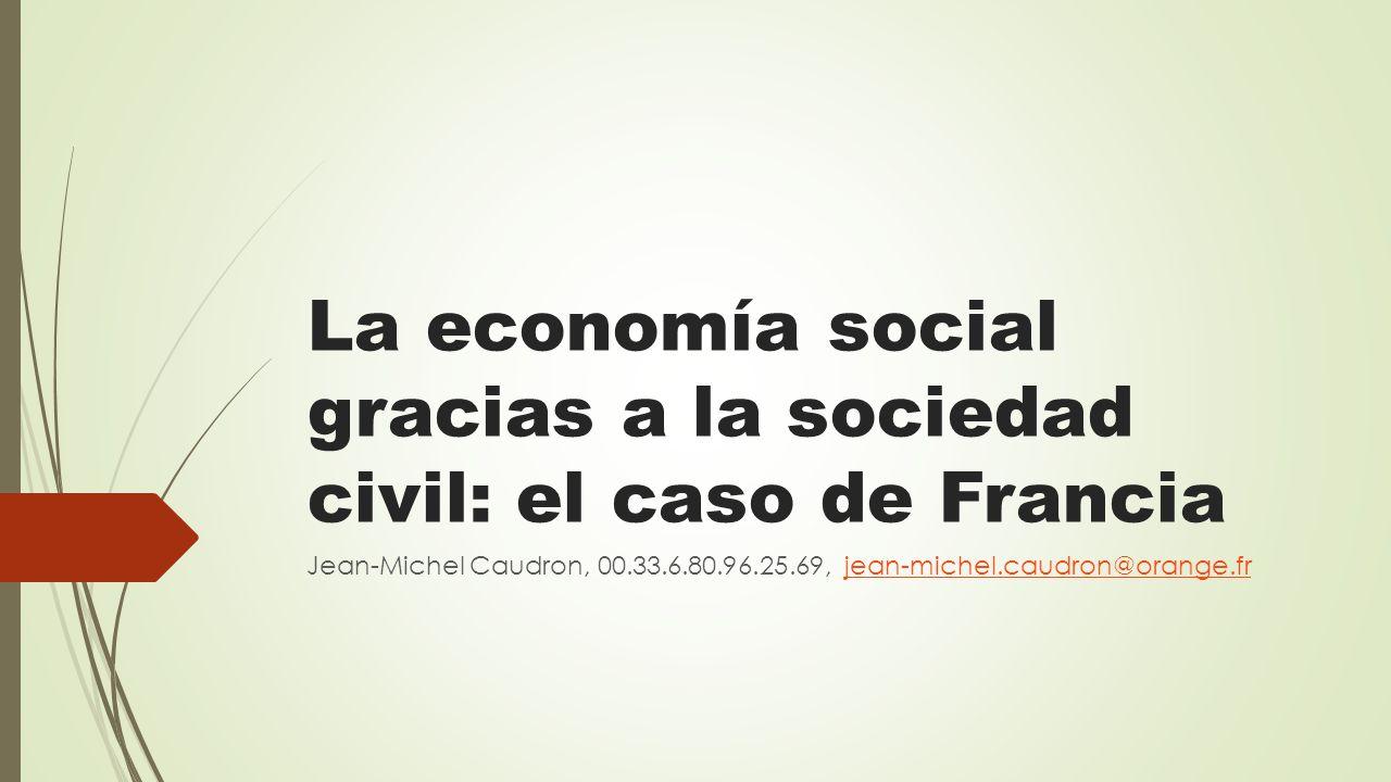 La economía social gracias a la sociedad civil: el caso de Francia