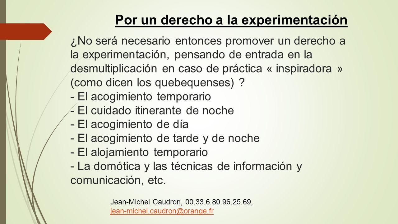Por un derecho a la experimentación