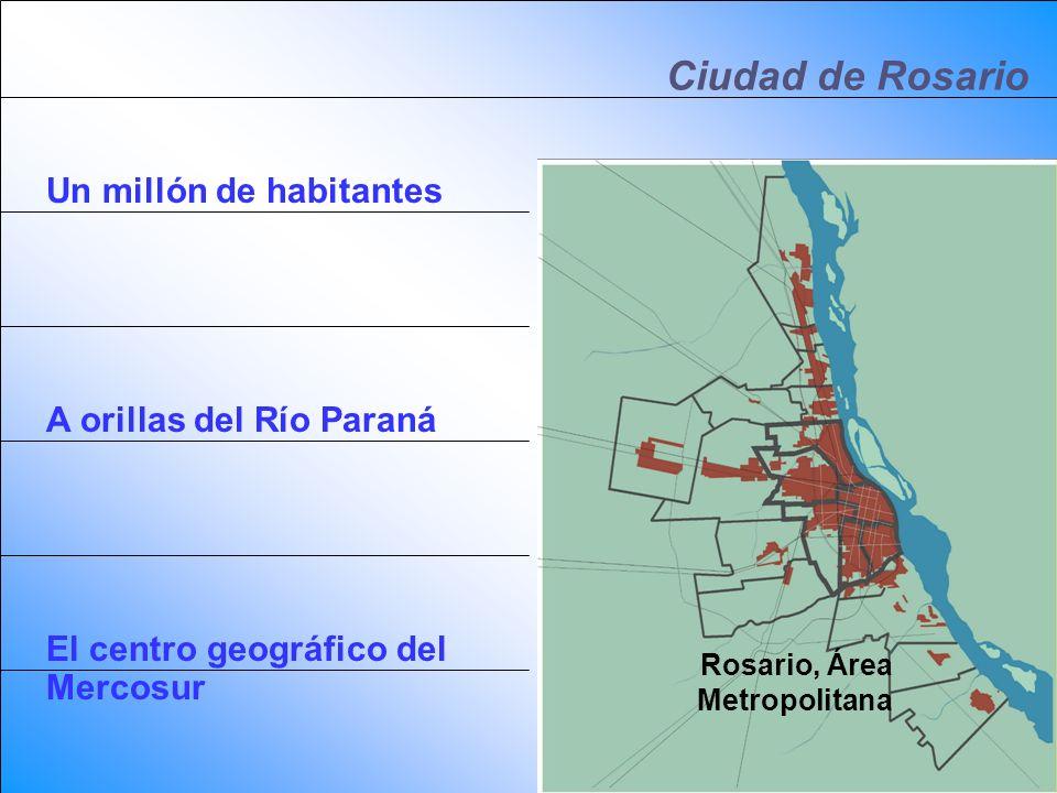 Ciudad de Rosario Un millón de habitantes A orillas del Río Paraná